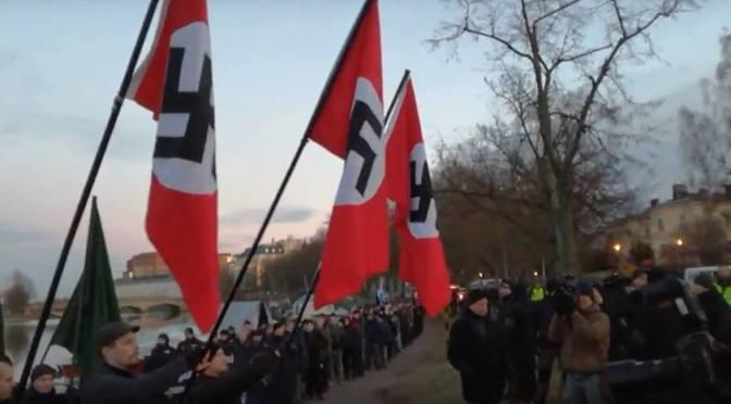 Helsingin mielenosoituksista natseja vastaan