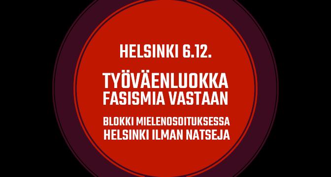 Punainen blokki 6.12.2019 – Työväenluokka fasismia vastaan!