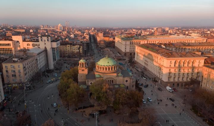 Ilmakuva Sofiasta, Bulgarian pääkaupungista