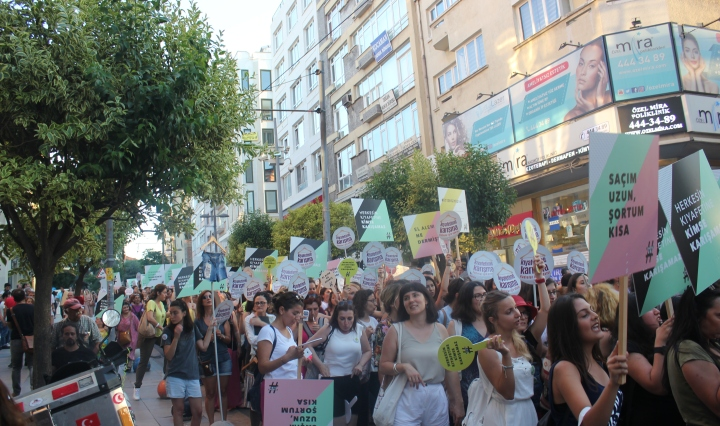 Mielenosoitus Istanbulissa, Turkissa.